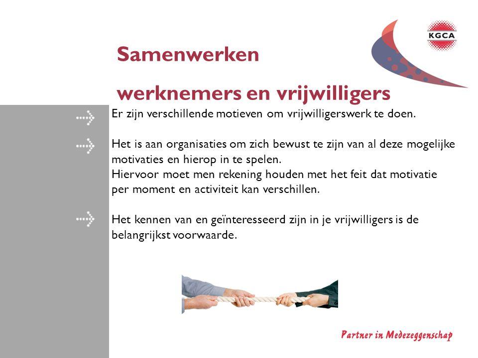 werknemers en vrijwilligers