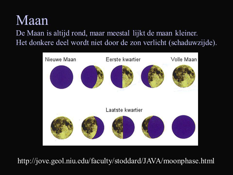 Maan De Maan is altijd rond, maar meestal lijkt de maan kleiner.