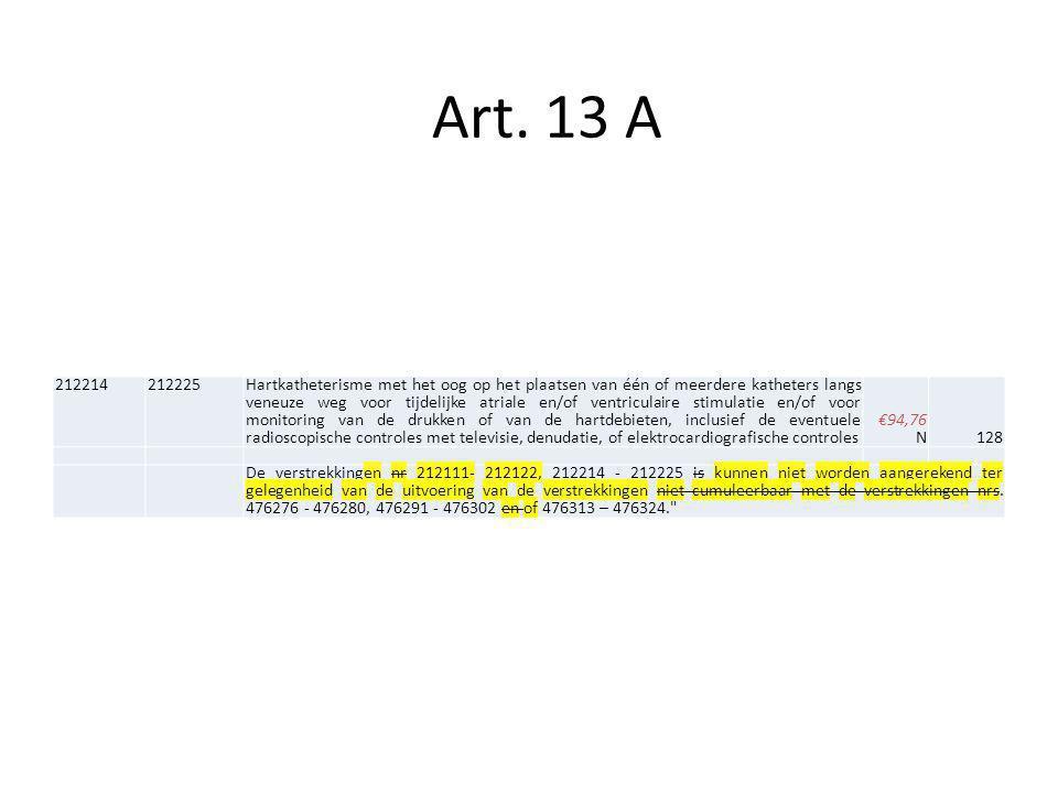 Art. 13 A 212214. 212225.