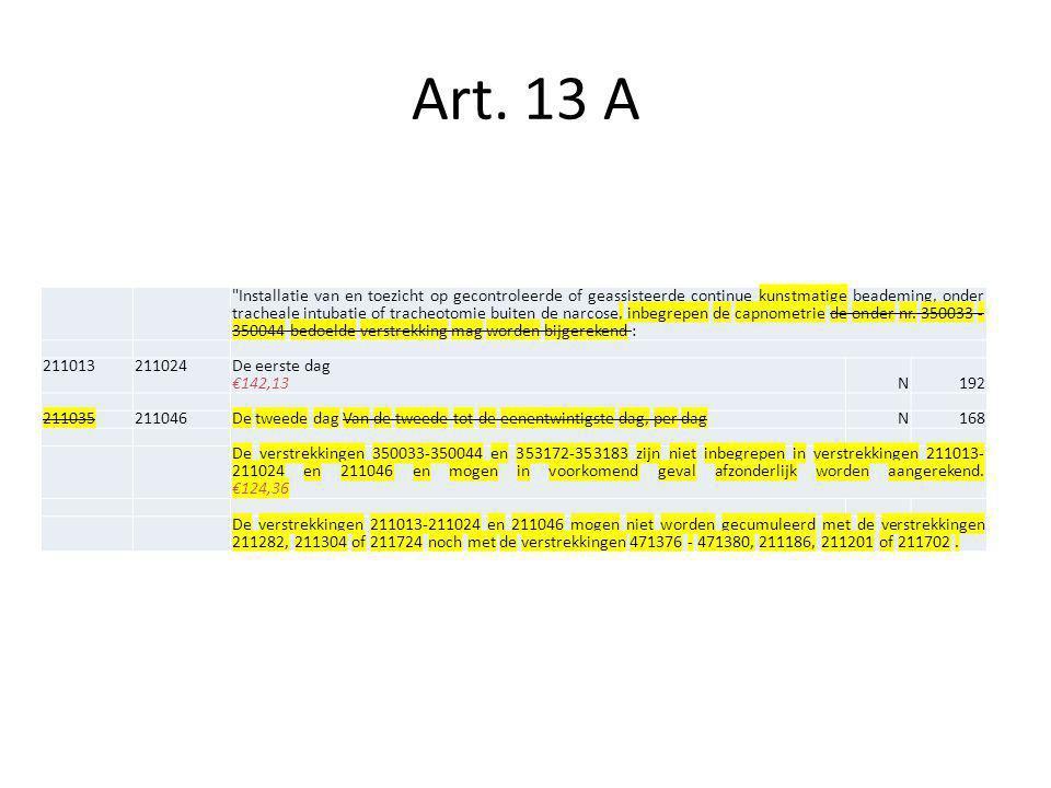 Art. 13 A