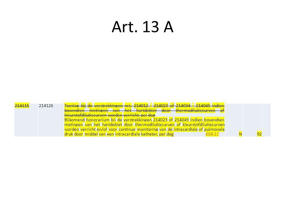 Art. 13 A 214115. 214126.