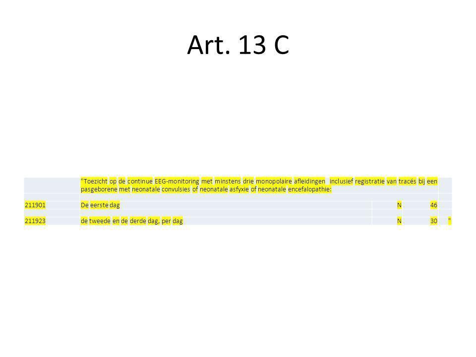 Art. 13 C