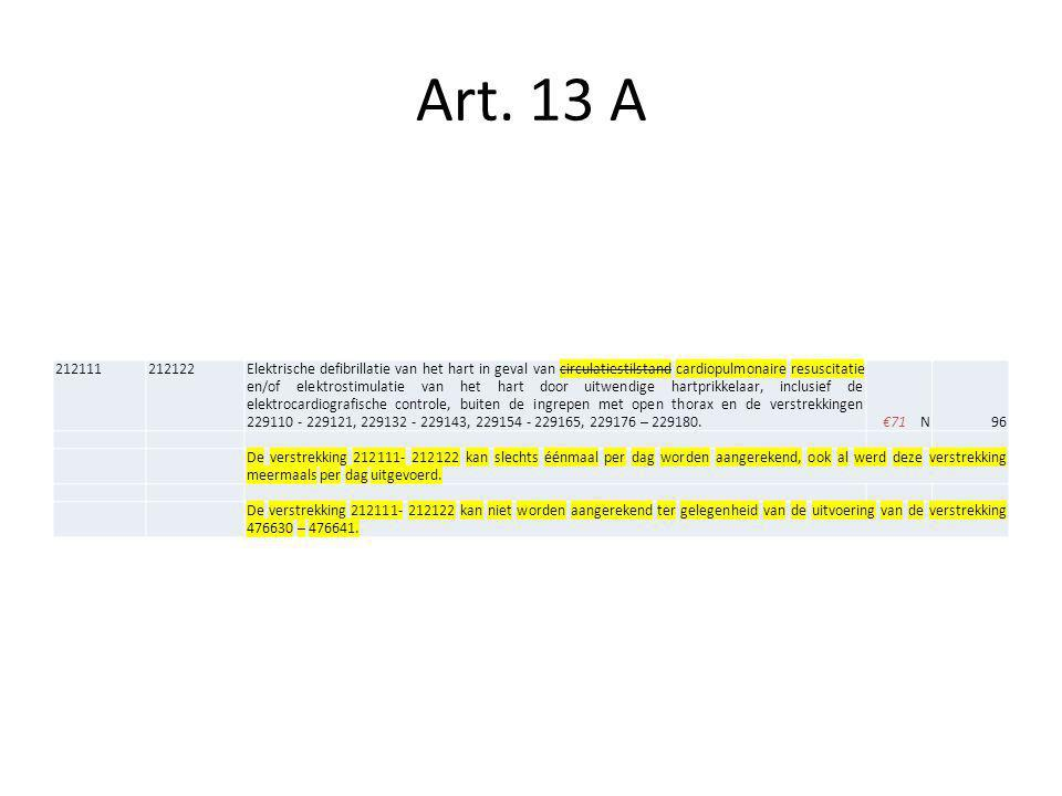 Art. 13 A 212111. 212122.
