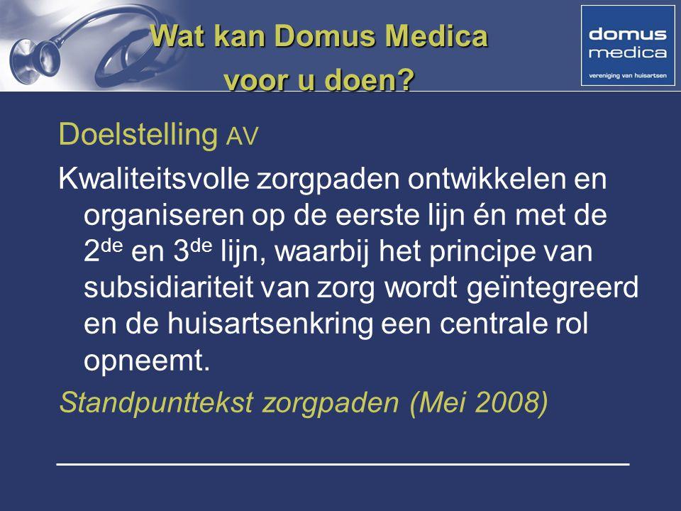 Wat kan Domus Medica voor u doen