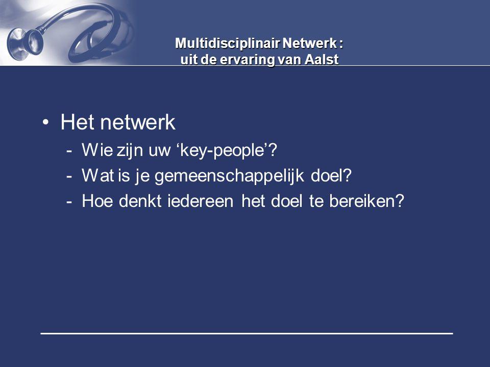 Multidisciplinair Netwerk : uit de ervaring van Aalst