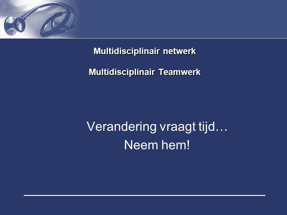 Multidisciplinair netwerk Multidisciplinair Teamwerk
