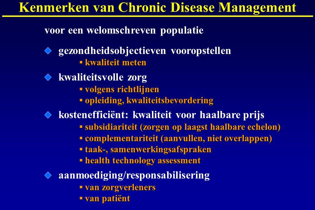 Kenmerken van Chronic Disease Management