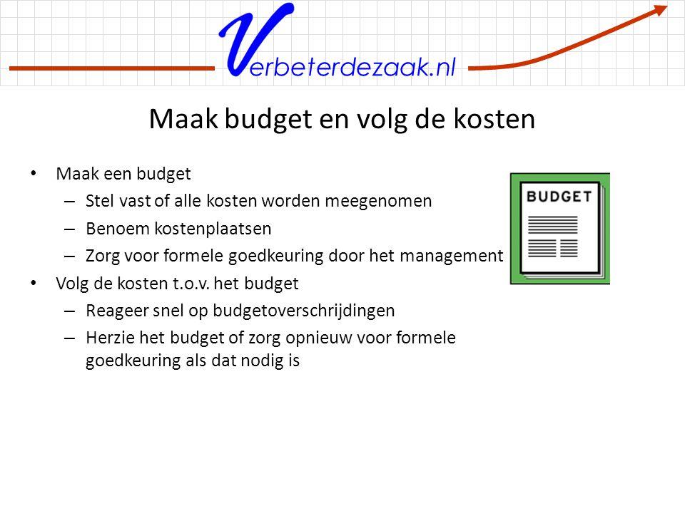 Maak budget en volg de kosten