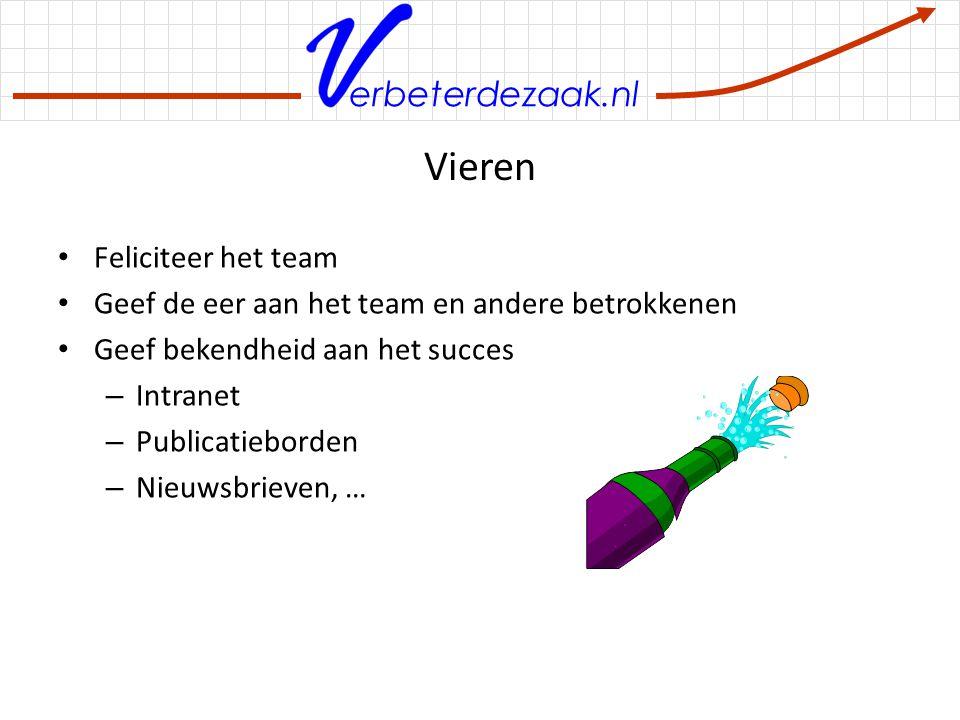Vieren Feliciteer het team