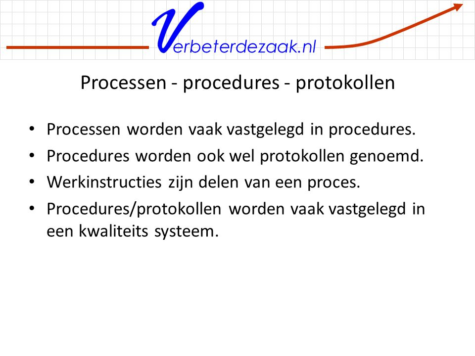 Processen - procedures - protokollen