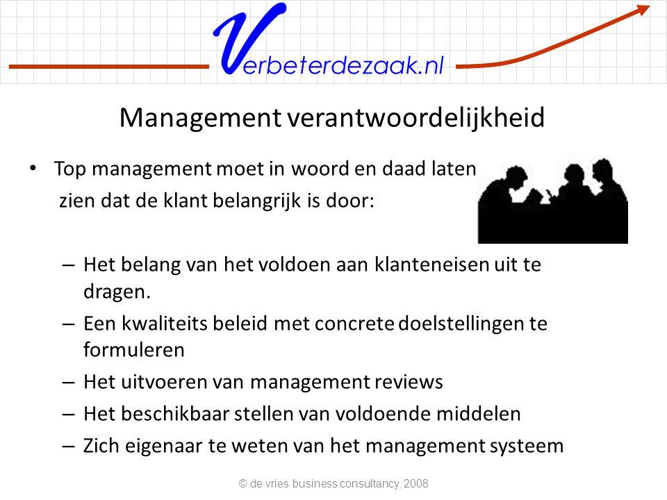 Management verantwoordelijkheid
