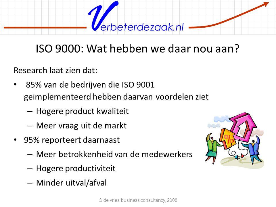 ISO 9000: Wat hebben we daar nou aan
