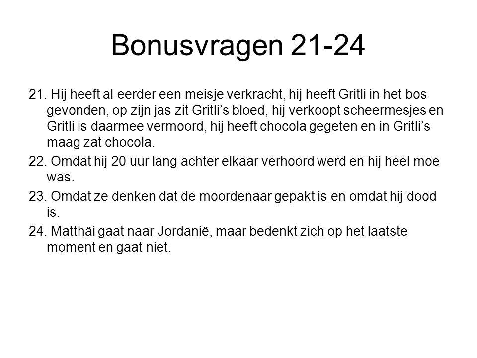 Bonusvragen 21-24