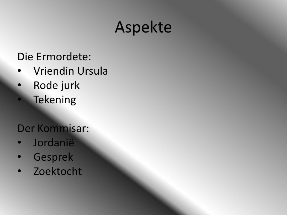 Aspekte Die Ermordete: Vriendin Ursula Rode jurk Tekening
