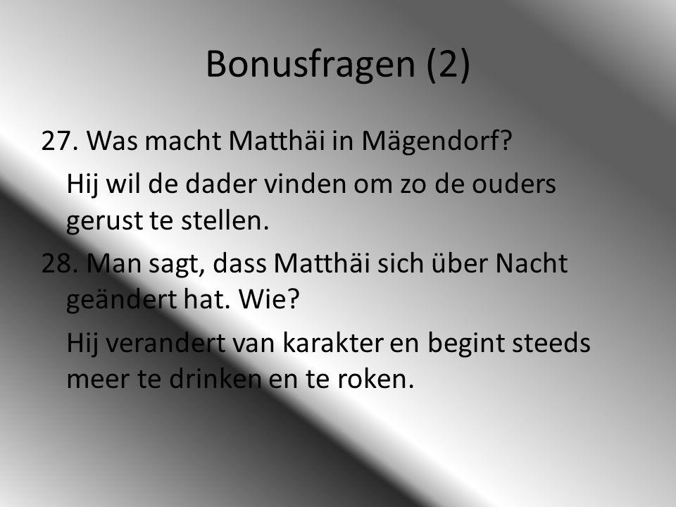Bonusfragen (2)