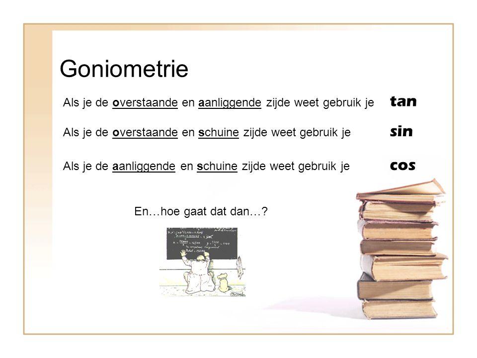 Goniometrie tan sin cos
