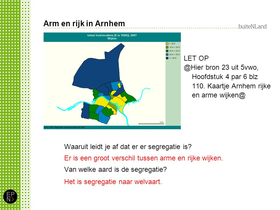 Arm en rijk in Arnhem LET OP