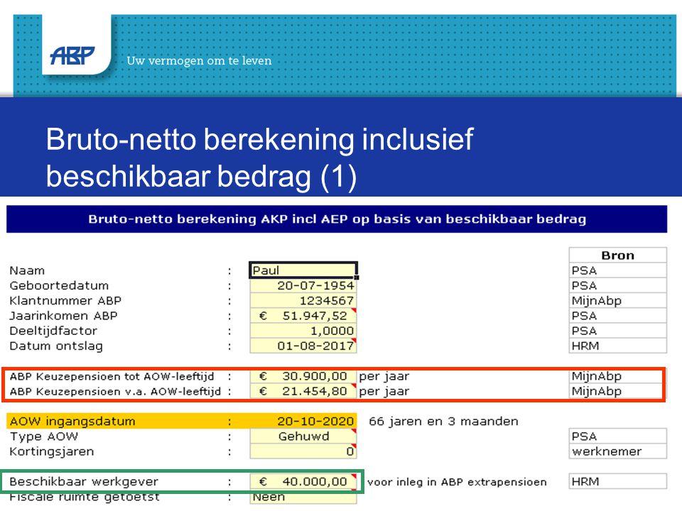 Bruto-netto berekening inclusief beschikbaar bedrag (1)