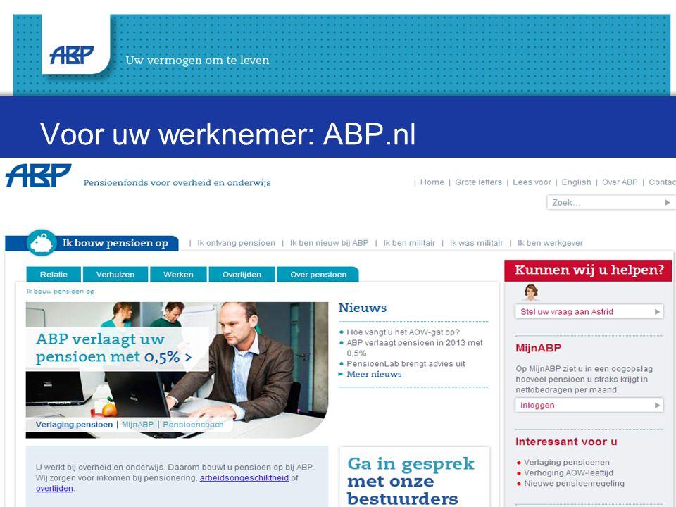 Voor uw werknemer: ABP.nl