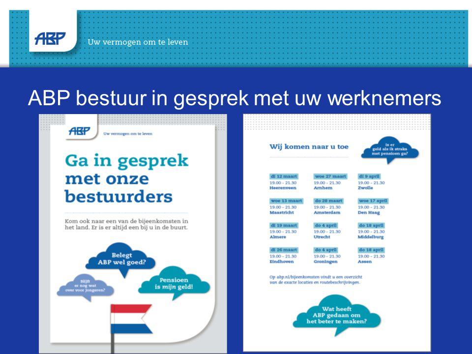 ABP bestuur in gesprek met uw werknemers