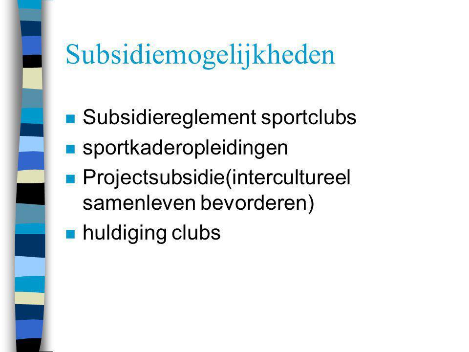 Subsidiemogelijkheden
