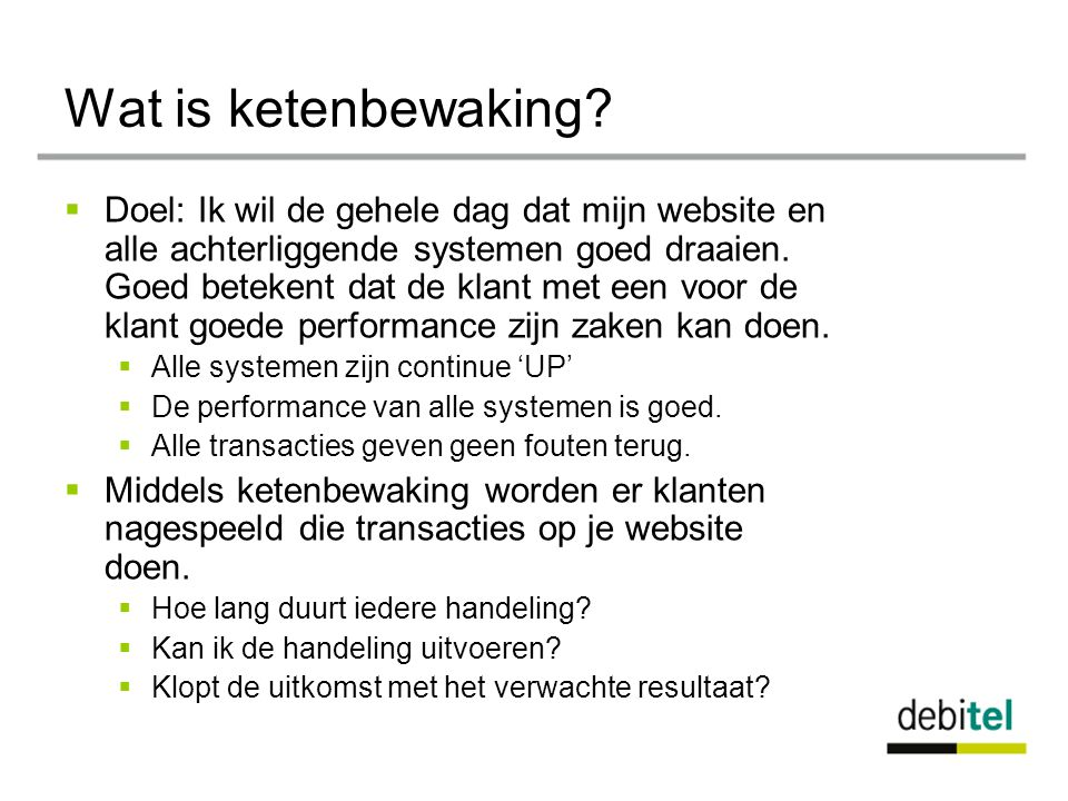 Wat is ketenbewaking