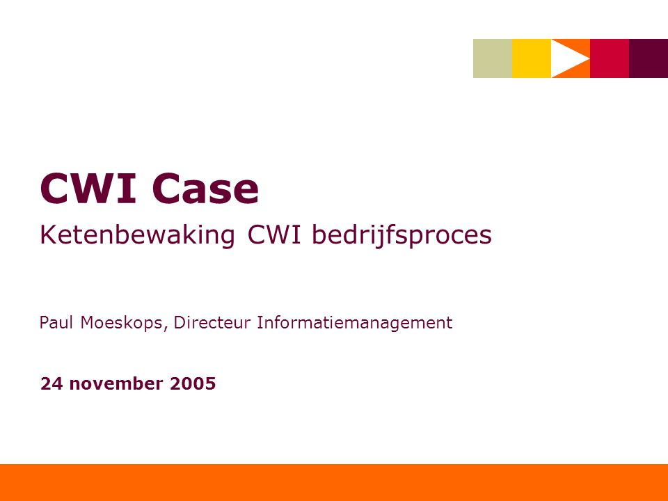 Ketenbewaking CWI bedrijfsproces