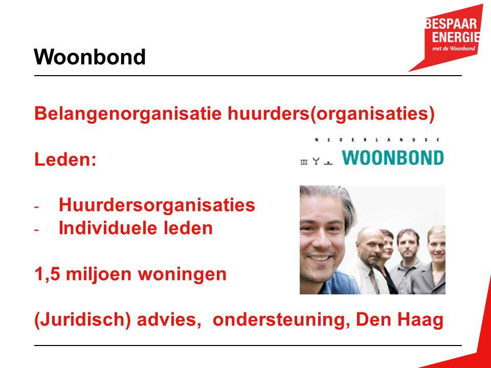 Woonbond Belangenorganisatie huurders(organisaties) Leden: