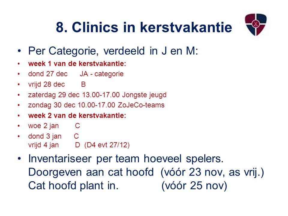 8. Clinics in kerstvakantie