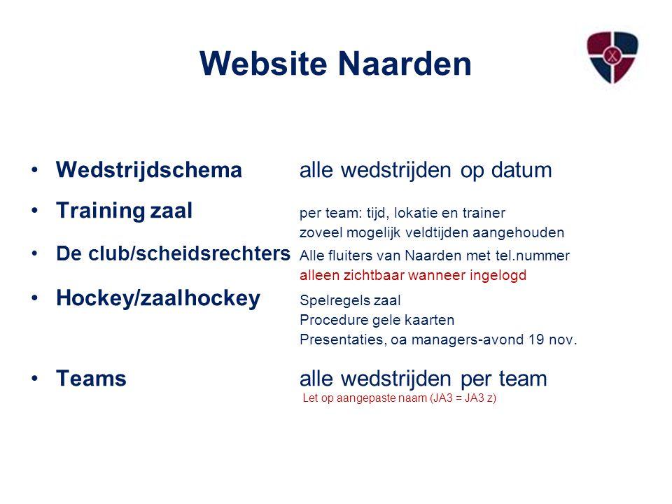 Website Naarden Wedstrijdschema alle wedstrijden op datum