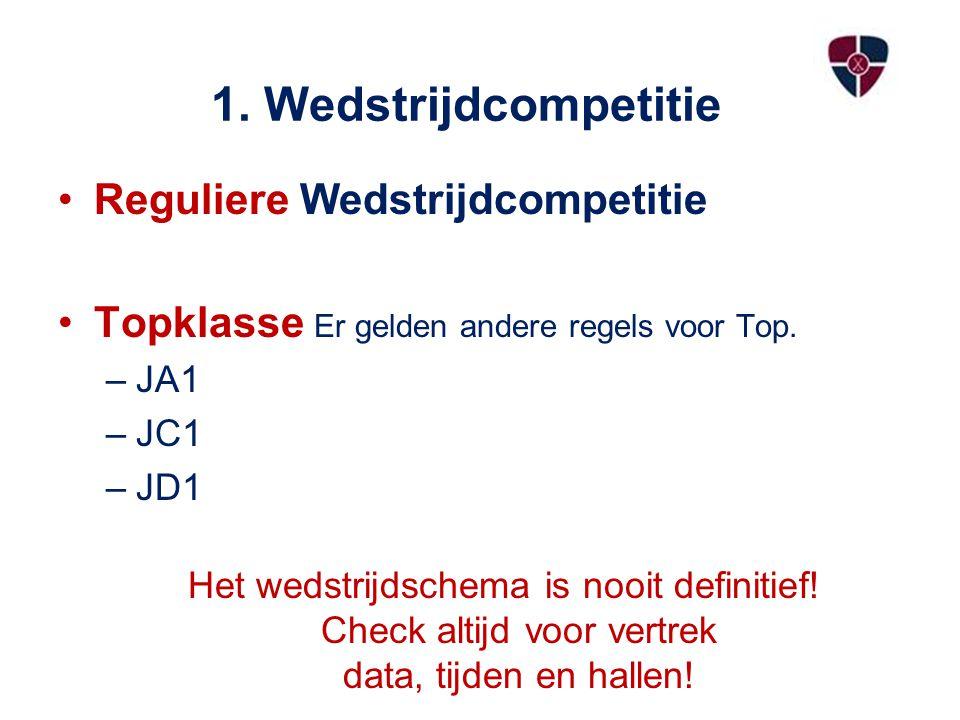 1. Wedstrijdcompetitie Reguliere Wedstrijdcompetitie
