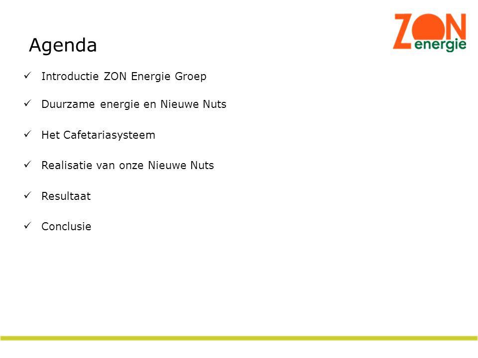 Agenda Introductie ZON Energie Groep Duurzame energie en Nieuwe Nuts