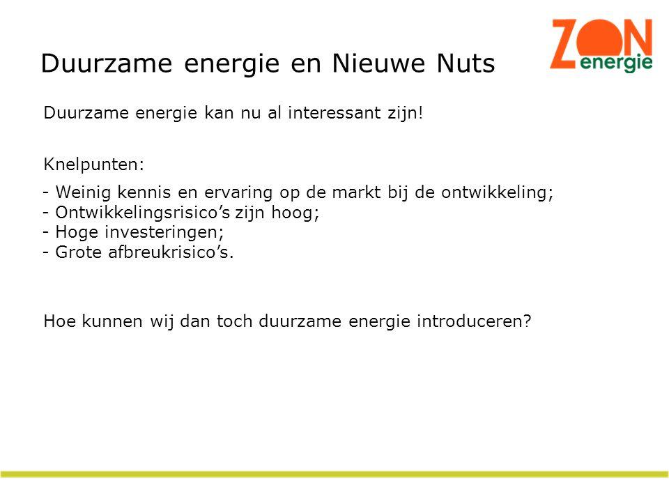 Duurzame energie en Nieuwe Nuts