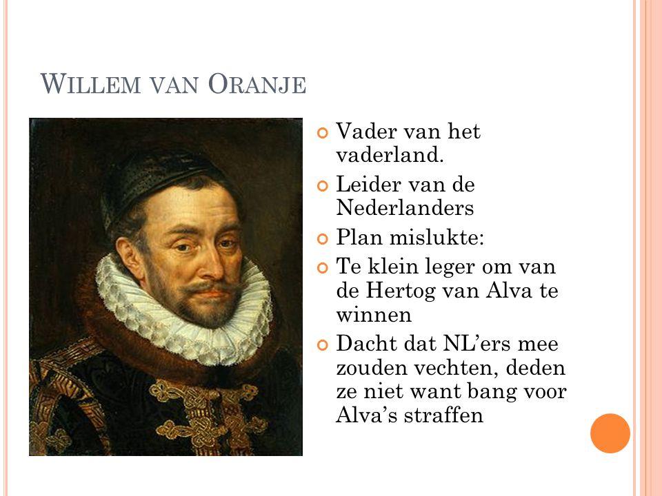 Willem van Oranje Vader van het vaderland. Leider van de Nederlanders