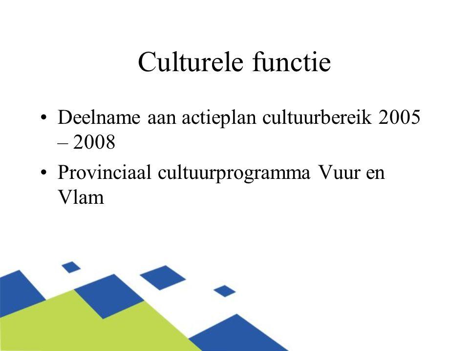 Culturele functie Deelname aan actieplan cultuurbereik 2005 – 2008
