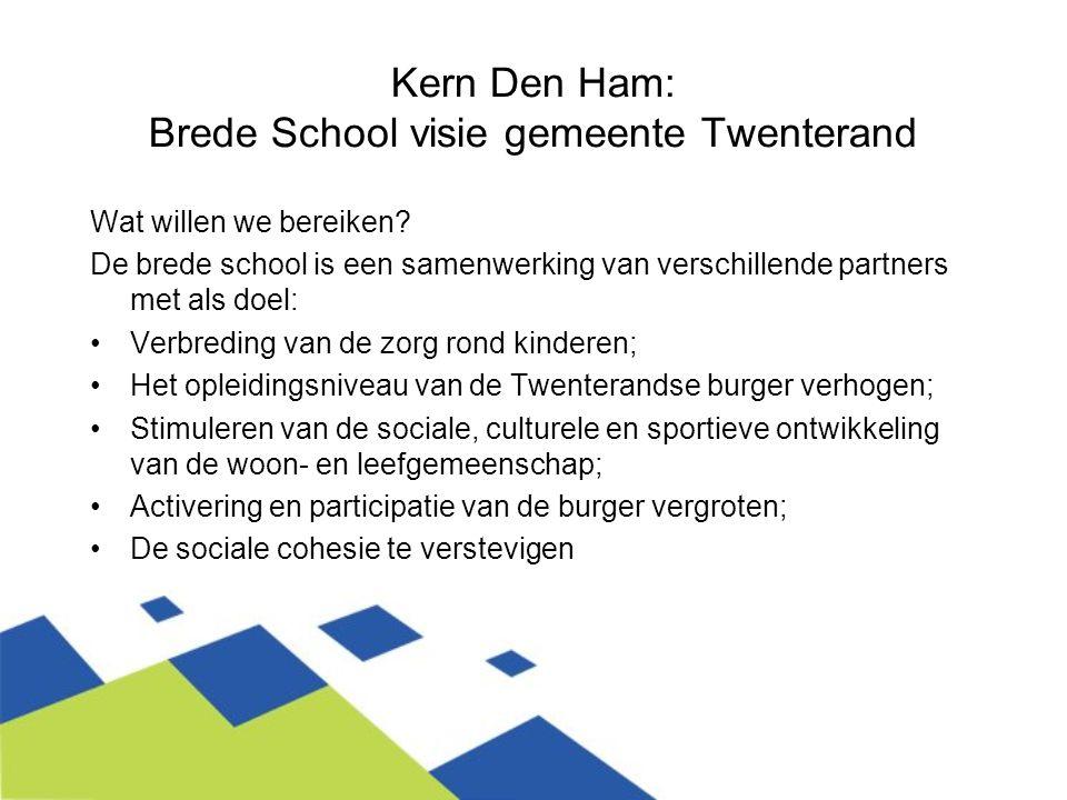 Kern Den Ham: Brede School visie gemeente Twenterand
