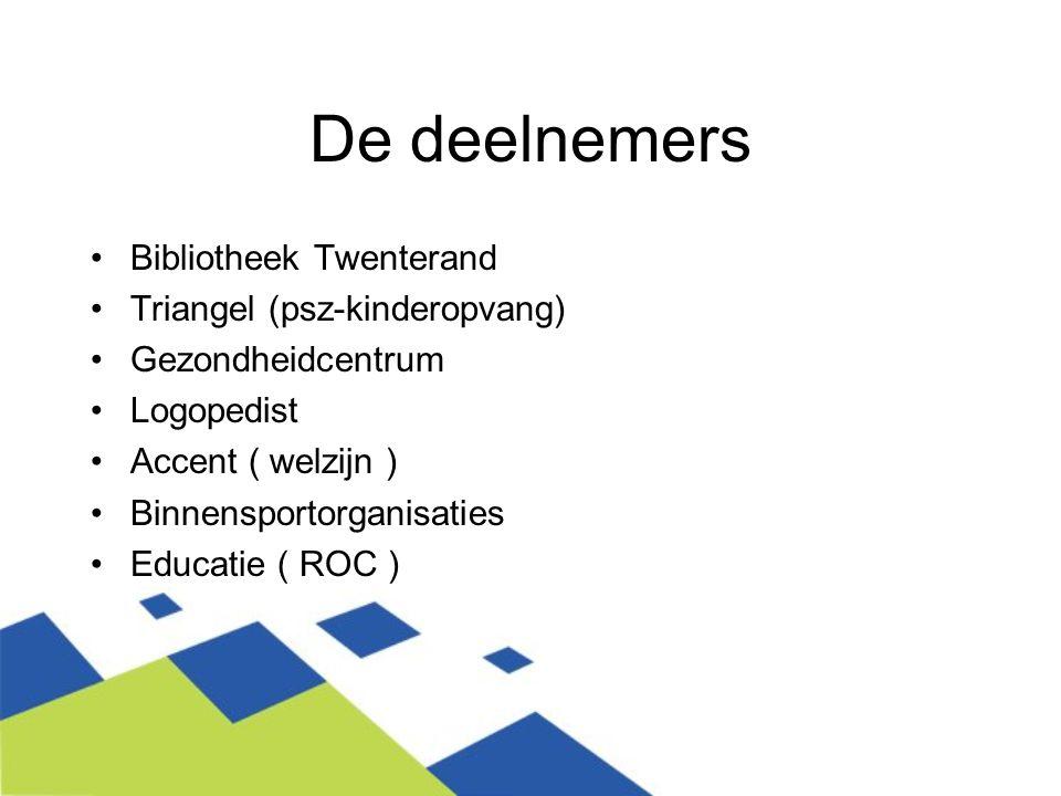 De deelnemers Bibliotheek Twenterand Triangel (psz-kinderopvang)