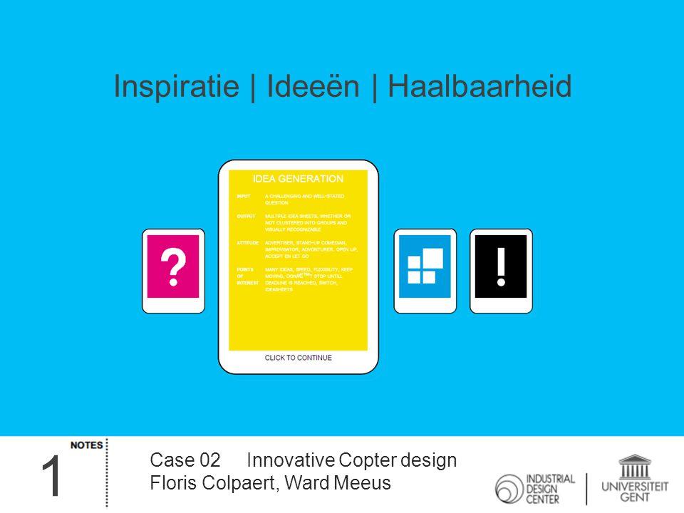 1 Inspiratie | Ideeën | Haalbaarheid