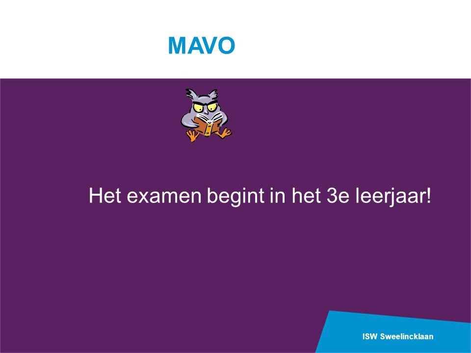 MAVO Het examen begint in het 3e leerjaar!
