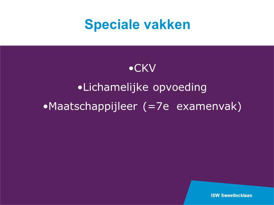 Speciale vakken CKV Lichamelijke opvoeding