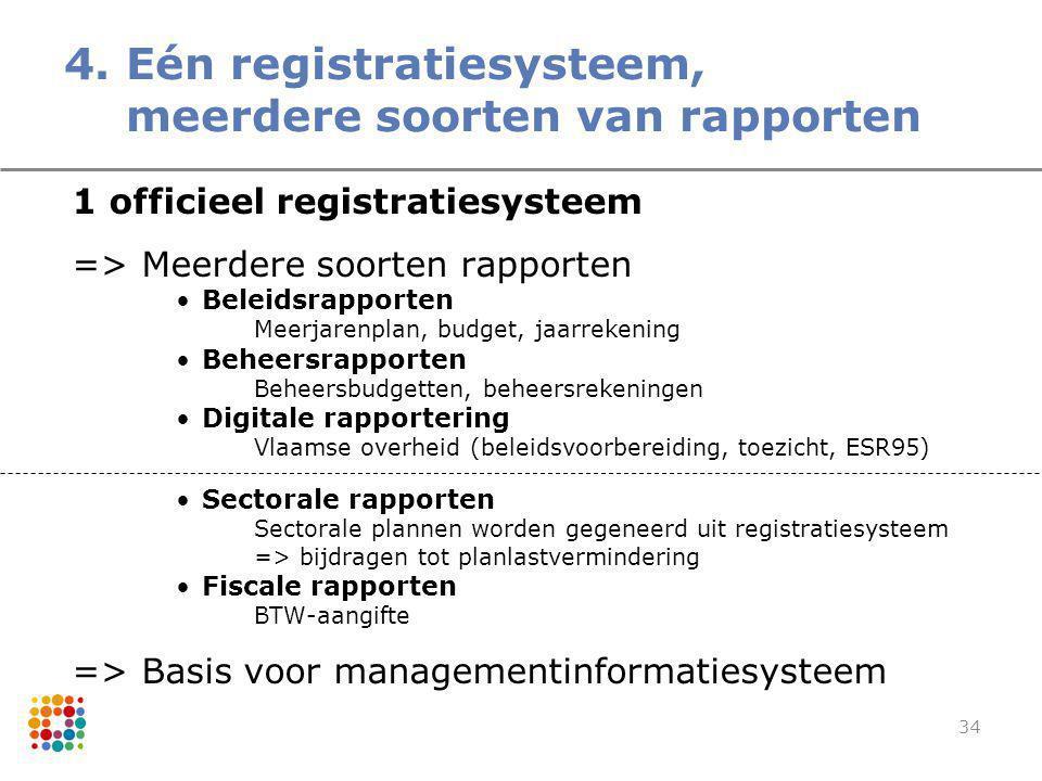 4. Eén registratiesysteem, meerdere soorten van rapporten