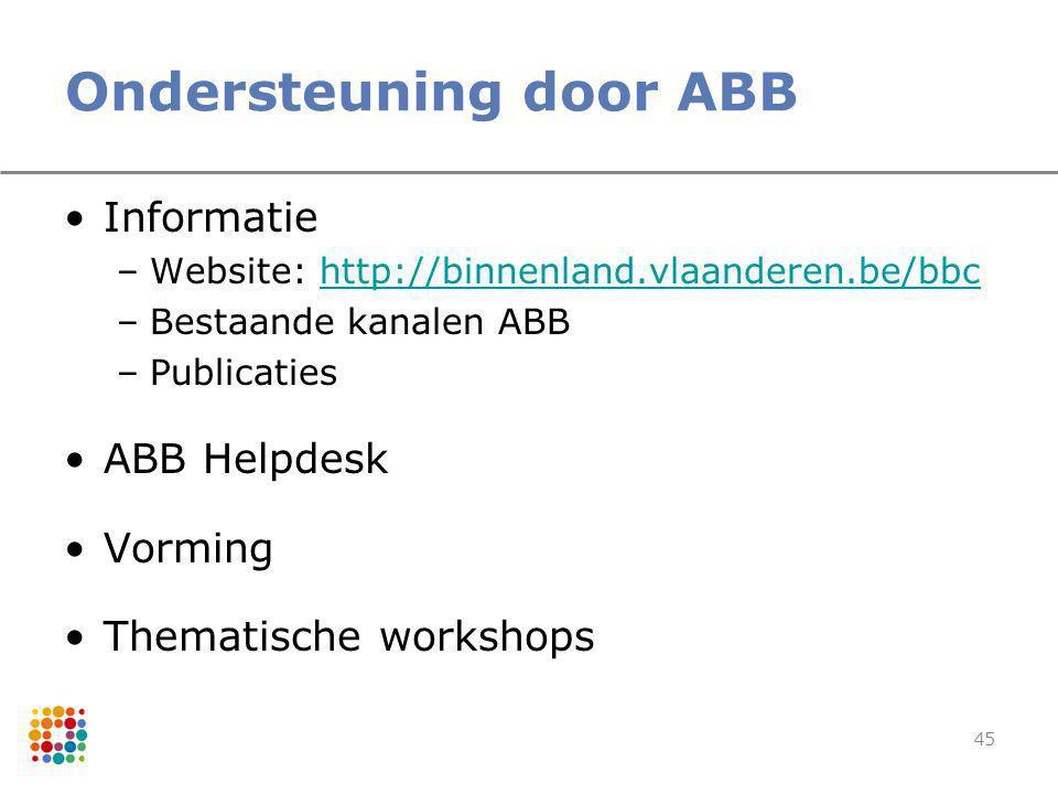 Ondersteuning door ABB
