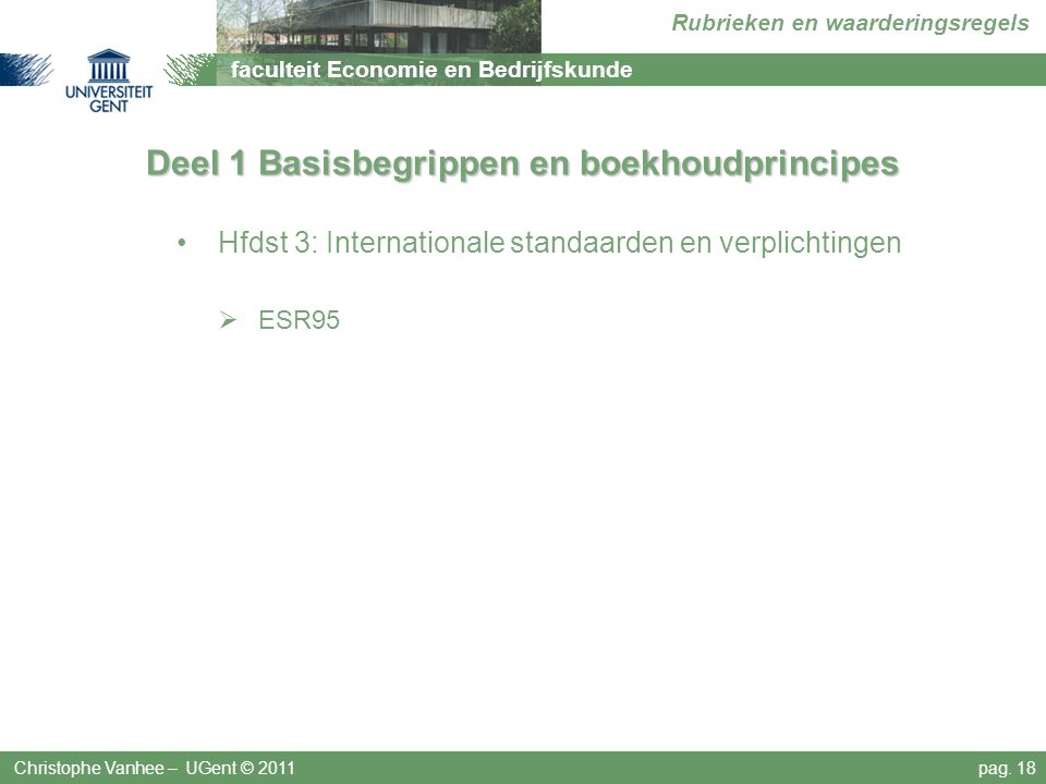 Deel 1 Basisbegrippen en boekhoudprincipes