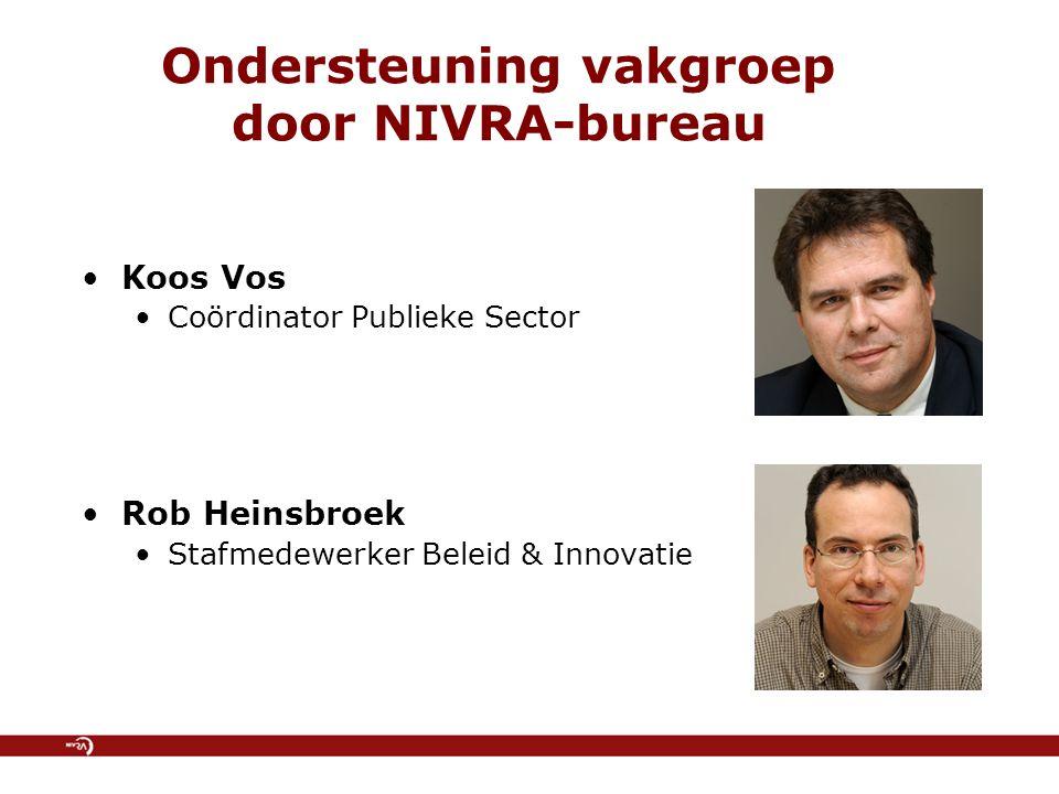 Ondersteuning vakgroep door NIVRA-bureau
