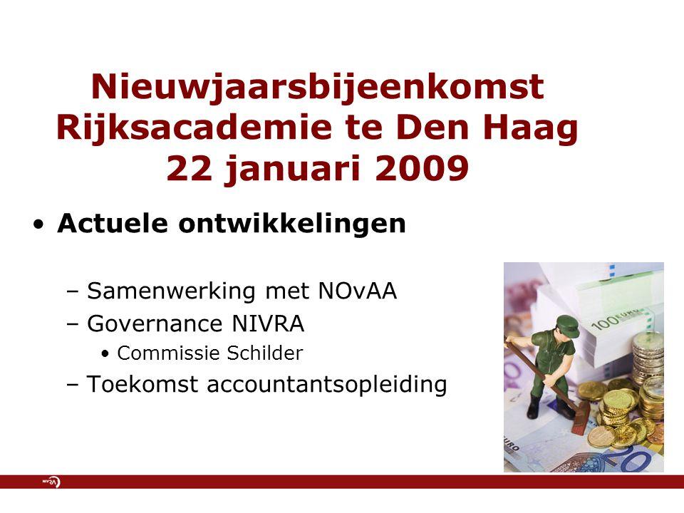 Nieuwjaarsbijeenkomst Rijksacademie te Den Haag 22 januari 2009