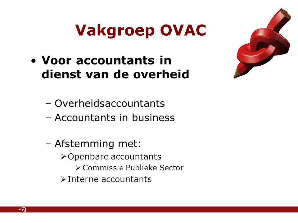 Vakgroep OVAC Voor accountants in dienst van de overheid
