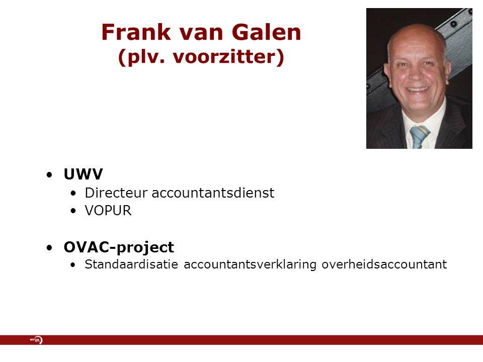 Frank van Galen (plv. voorzitter)