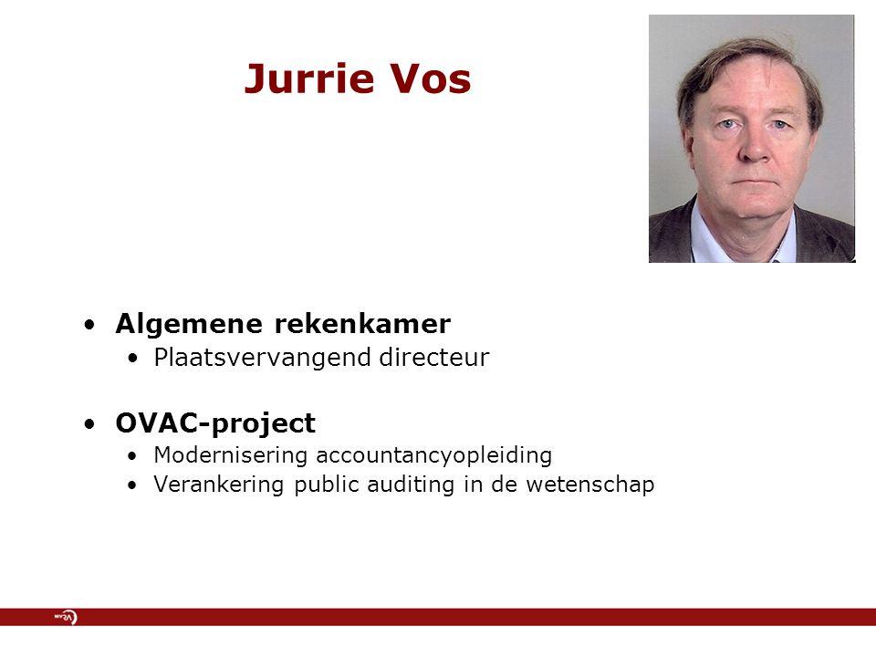 Jurrie Vos Algemene rekenkamer OVAC-project Plaatsvervangend directeur