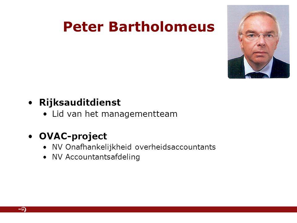 Peter Bartholomeus Rijksauditdienst OVAC-project