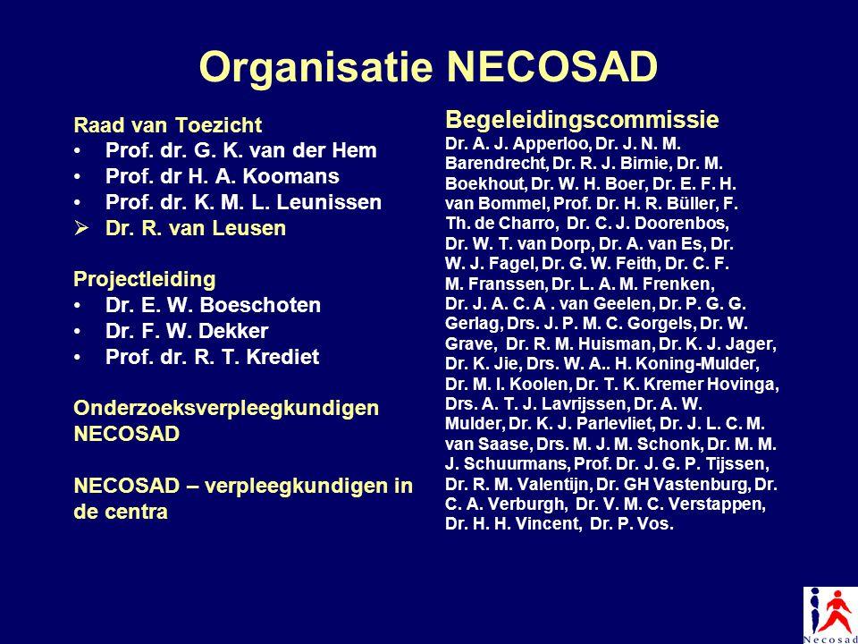 Organisatie NECOSAD Begeleidingscommissie Raad van Toezicht